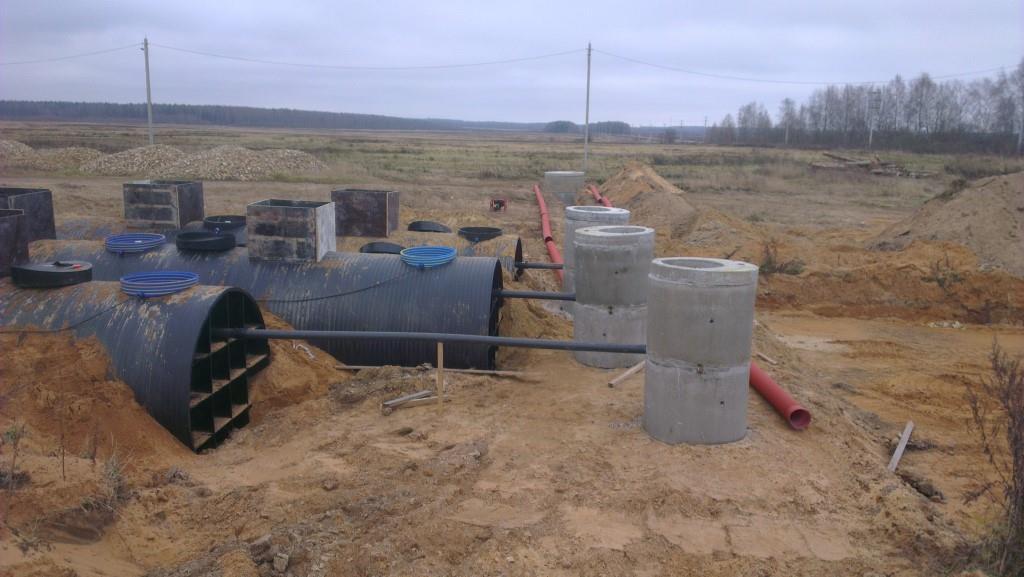 Монтаж очистного сооружения Диамант 2500 в городе Солнечногорск