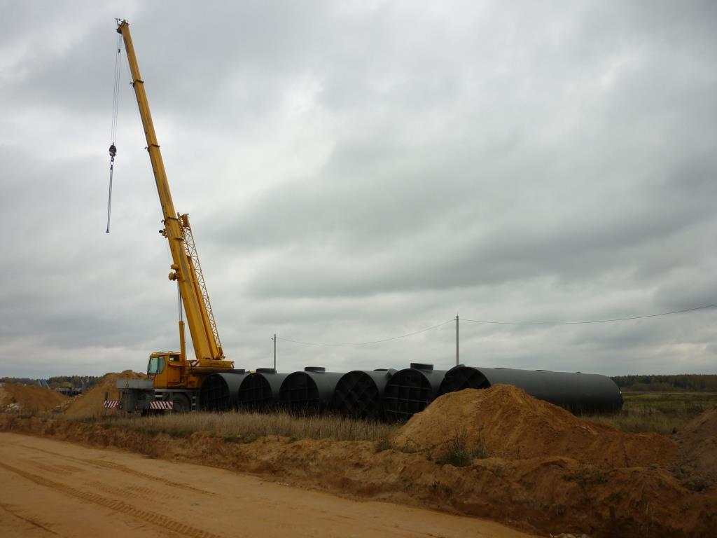 Монтаж очистного сооружения Диамант 1500 для производственного комплекса в г.Дубна
